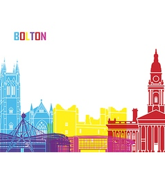 Bolton skyline pop vector image