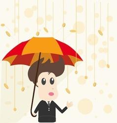Businessman and Money Rain vector image