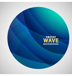Circle abstract pictures of blue wave color vector image
