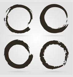 circle shapes set on grey background stylish vector image