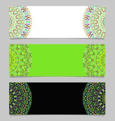 Colorful horizontal geometrical gravel mandala vector