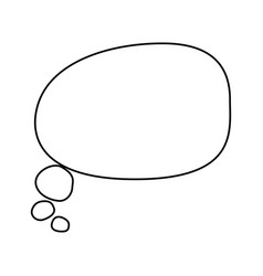 comic bubble symbol vector image
