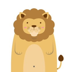 Cute big fat lion vector