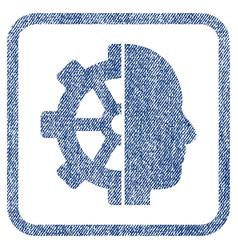 Cyborg gear fabric textured icon vector