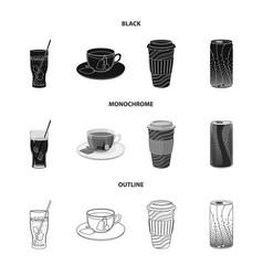 Design drink and bar logo set drink vector
