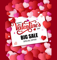 design flyer happy valentine s day 50 off sale vector image