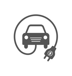electrocar simple related icon for video vector image