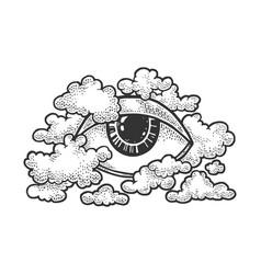 Eye god providence sketch vector