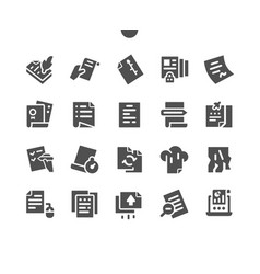 File well-crafted pixel perfect solid icons vector