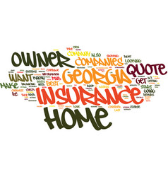 find a low rate georgia home owner insurance vector image