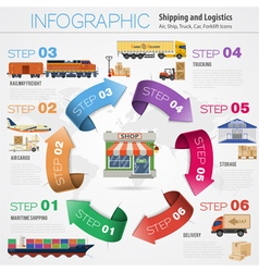 Freight Transport Infographics vector image