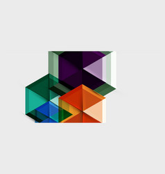Geometric triangle and hexagon abstract background vector
