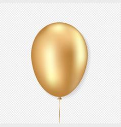 Golden balloon realistic style vector