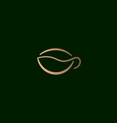 graceful a cup coffee logo icon design vector image