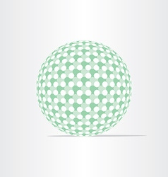 green ball eco globe clean world icon vector image