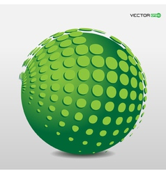 green phosphorescent ball with floating points vector image