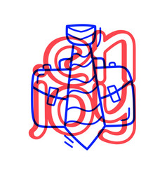 hand draw doodle job portfolio and tie education vector image