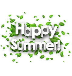 Happy summer paper background vector image vector image