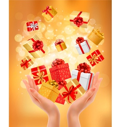 Holiday Presents background vector image vector image