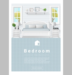 Interior design Modern bedroom banner 9 vector image