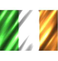 Irish national flag background vector