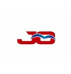 JO Logo Graphic Branding Letter Element vector