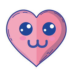 Kawaii cute tender heart love vector