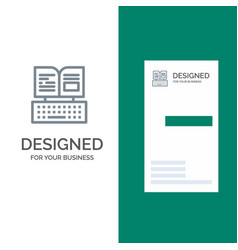 Key keyboard book facebook grey logo design and vector