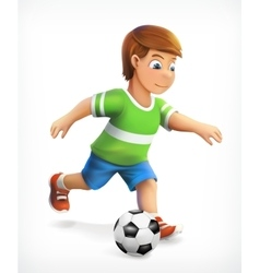 Little football playe vector image