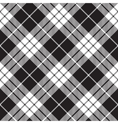 Macleod tartan black and white seamless background vector