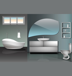 modern bathroom interior design flat vector image