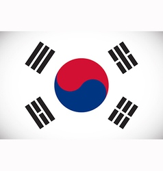 National flag of South Korea vector image