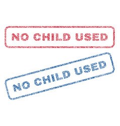 No child used textile stamps vector