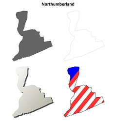 Northumberland Map Icon Set vector