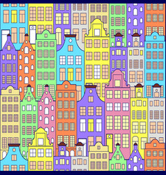 Pattern with colorful building vector
