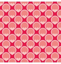 Pink tile background with hearts and polka dots vector image