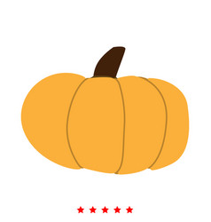 Pumpkin icon different color vector