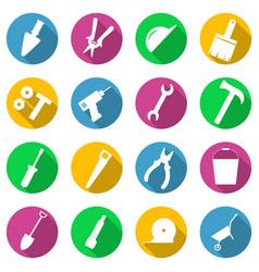 repair tools build icons set vector image