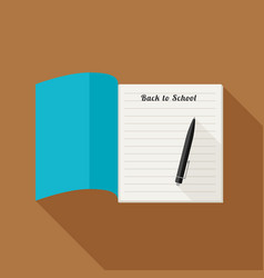 school notebook with pencil vector image