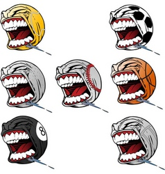 Screaming sports vector