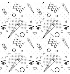 Seamless pattern of equipment for permanent vector