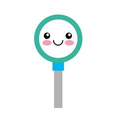 Search magnifying glass kawaii character vector