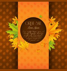 seasonal autumn sale poster vector image