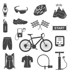 Set of icons about cycling vector