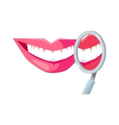 Smile with White Tooth vector