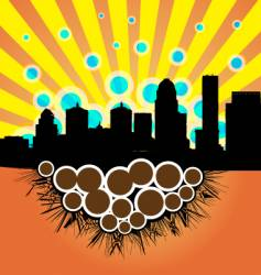 Smoggy skyline vector