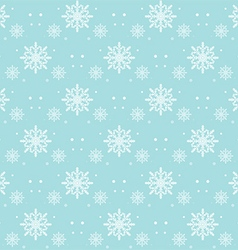 Snow Flakes Pattern Seamless on Blue Background vector image