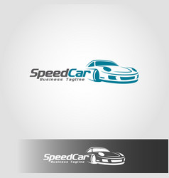 speed car logo template vector image