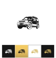 SUV car icon vector image