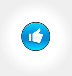Thumbs up like icon vector